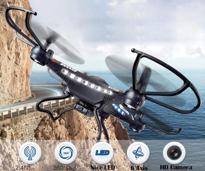 JJRC H8CH 2,4G 4CH 6-Axis Gyro RC Quadcopter Drone RTF w/HD/2.0MP Cámara mágica de juguete pista 5,16