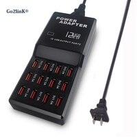 Go2linKマルチ12ポート充電usbデスクトップ充電器スマート電話タブレットpc用lg g6 xiaomi mi6 mi6プラス黒
