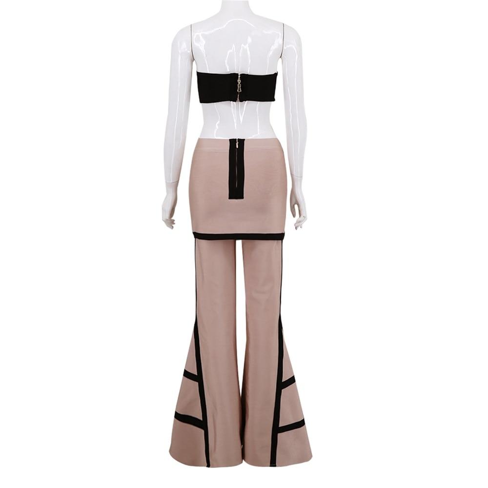 Paneled Llamarada Apricot Mujer 2018 Pantalones Vendaje Calidad Elasticidad Moda Estilo Nuevo Higt Punto E67q5w