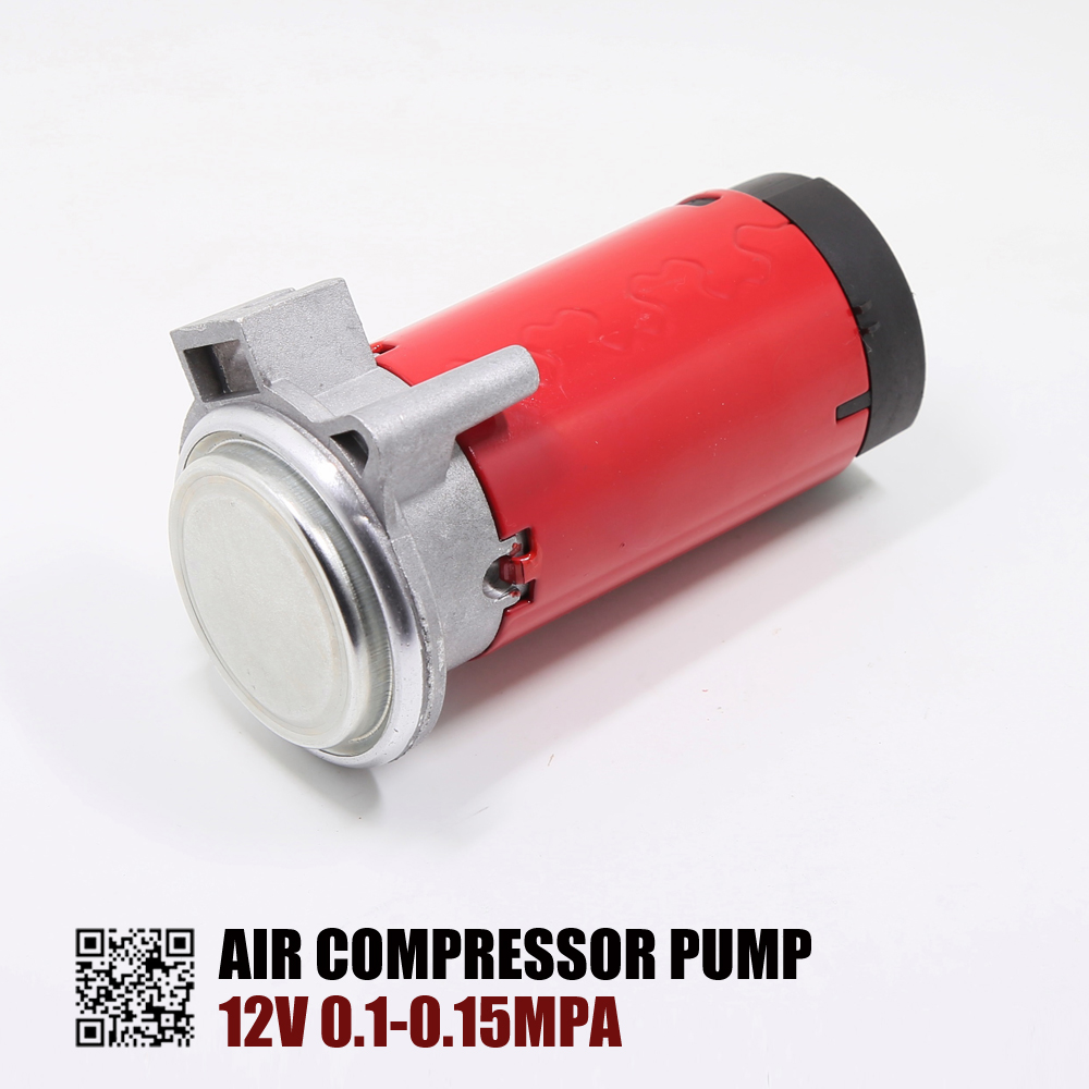 OKC 12V/24V 0.1-0.15 Mpa Red Air Horn Compressor For Car Motorcycle