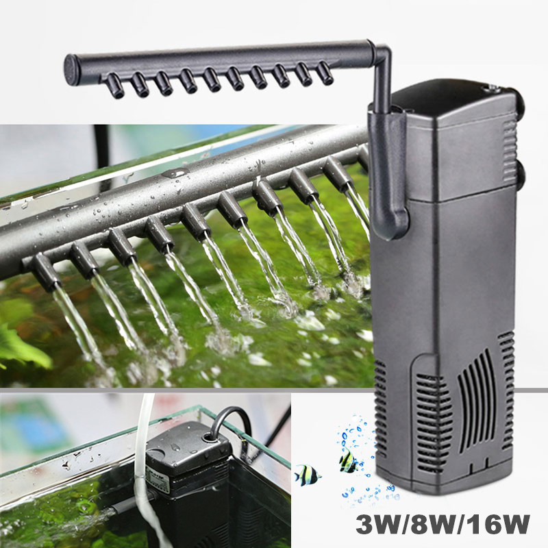Aquarium Filter Tauch Interne Filter Für Aquarium Wasser Spray Fluss Biologische Plus Power Filterpumpe 3 Watt/8 Watt/16 Watt