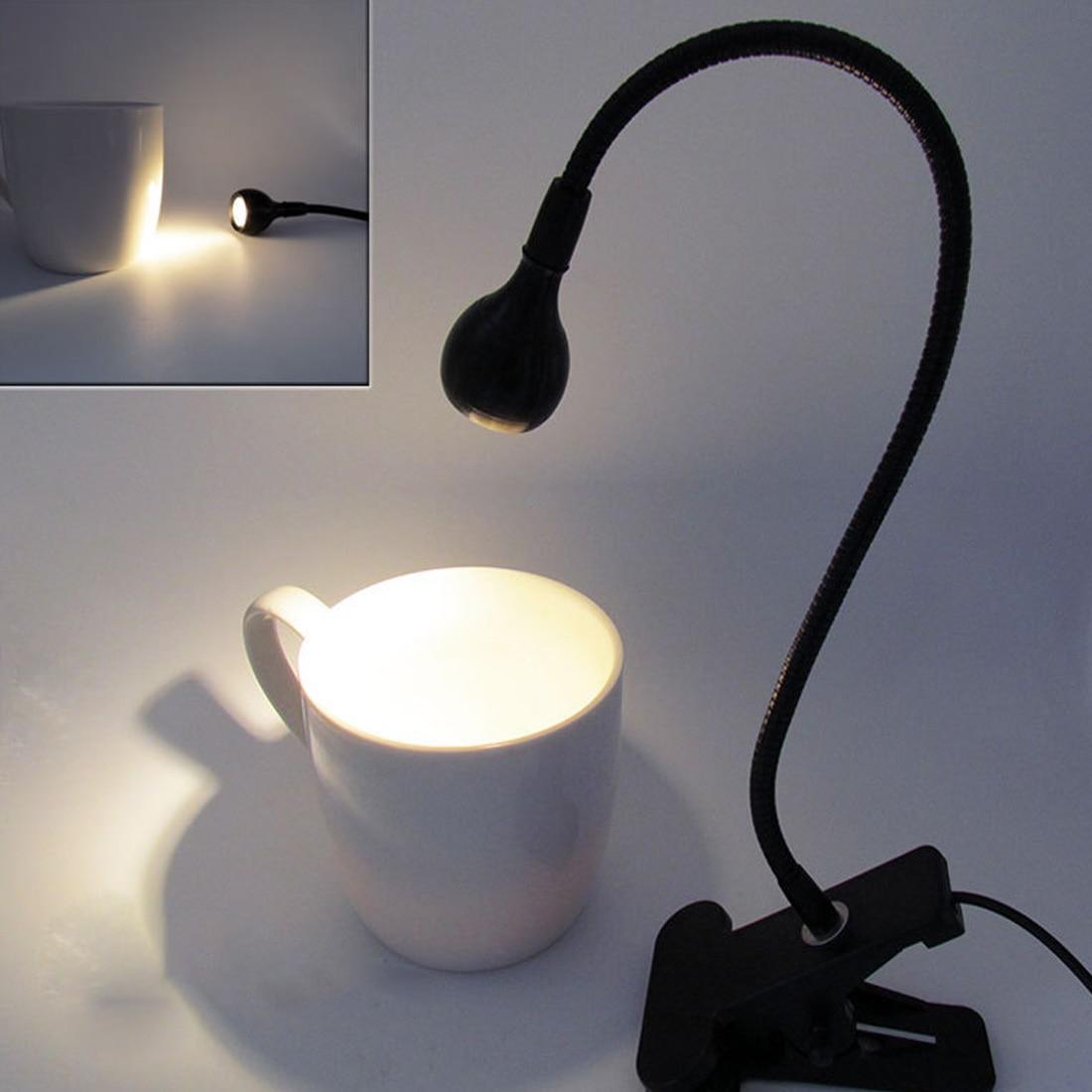 Hot USB Fan Flexible LED Light Desk Lamp With Clip for Laptop PC Computer Black Gadgets Low Power Consumption