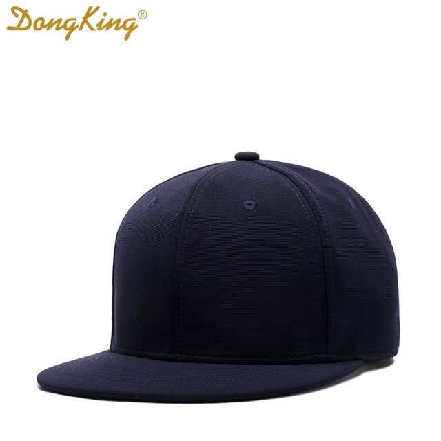 DongKing SnapBacks Hat Baseball Caps Polyester Cap Flat Visor Top Quality  Gift Classic Style Blank Cap Custom Embroidery Gorras 9c22fa2f9de