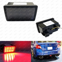CYAN SOIL BAY Smoked Lens F1 Style LED Rear Fog Light Brake Tail Lamp For Subaru
