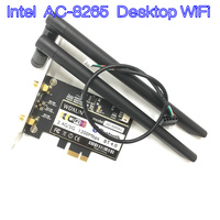 Wireless AC 8265 867Mbps 802.11 AC Dual Band Desktop WiFi Adapter PCI Express Card for Intel 8265AC 5GHz WiFi + Bluetooth 4.2