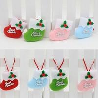 Christmas Tree Ornaments Christmas Hang Small Boots Christmas Decorative Supplies 4 Colors