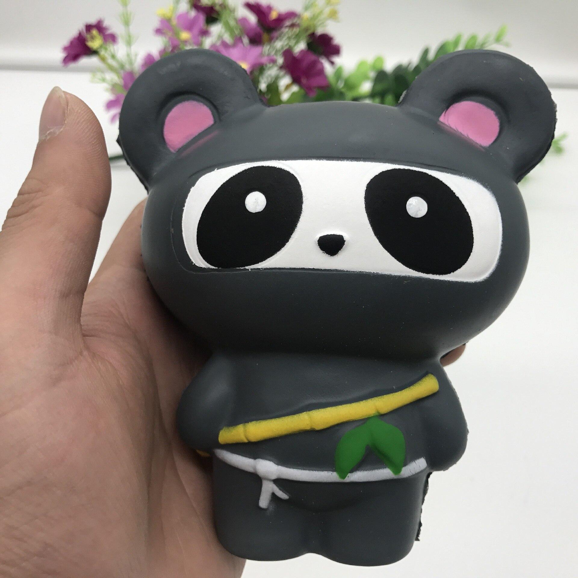 2018 Cartoon Ninja Panda Fox Jumbo Kawaii Squishy Toys Soft Slow Rising Fun Toys Animal Toys Stress Relief Kids Birthday Gift