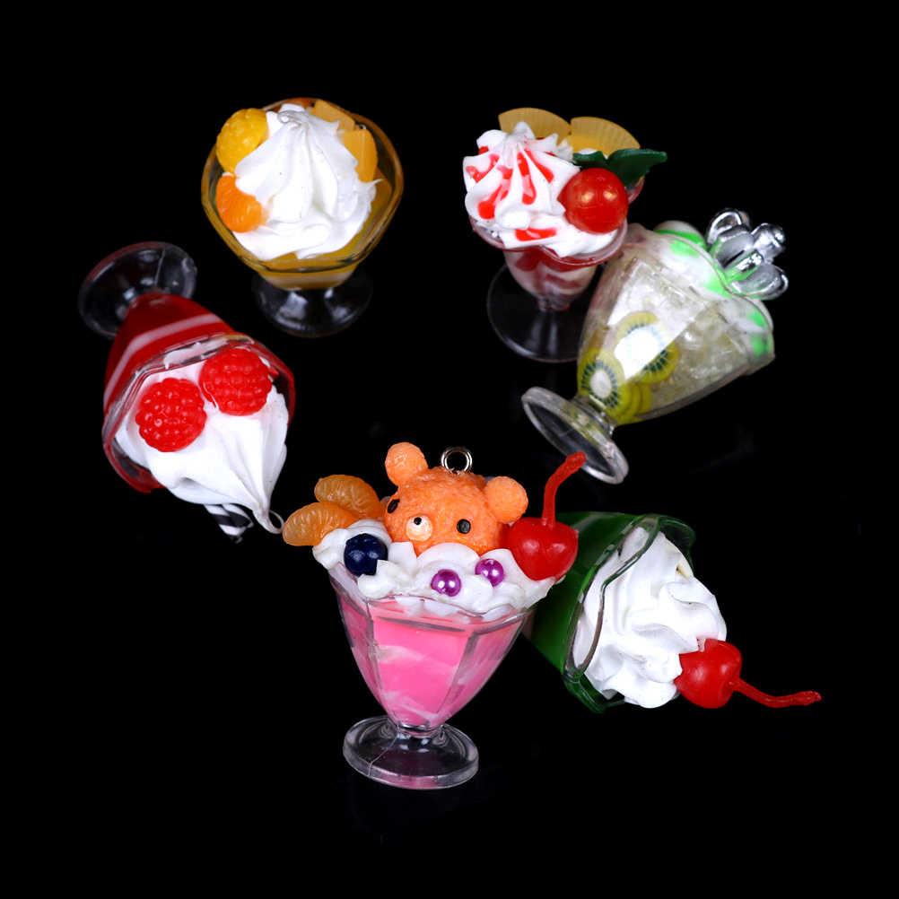 1pc napój kubeczki do lodów zestaw Model udawaj zagraj w Mini jedzenie akcesoria dla lalek Fit Play zabawka domowa śliczny domek dla lalek miniatura