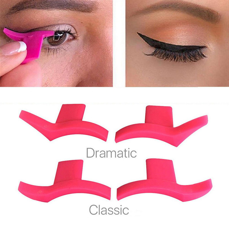 2 Pcs Eyeliner Template Model Stamp Makeup Aid Tools Sexy Silicone Eyeliner Stamps Practical Eyeliner Template Model Kit