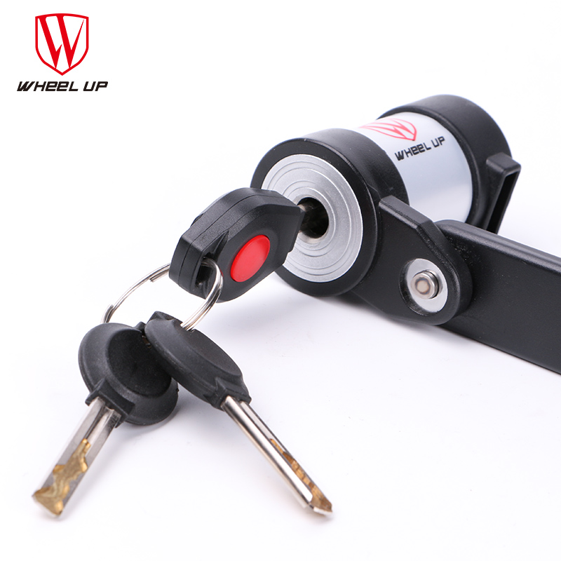 WHEEL UP 2017 Anti-theft Steel MTB Bicycle Lock Professional Mini Foldable With Keys 3 Colors Anti-cut Safety Cycling Bike Lock abus newest top quality bordo lite 6050 85 professional cycling bike anti theft foldable lock bicycle cycle biking fold lock