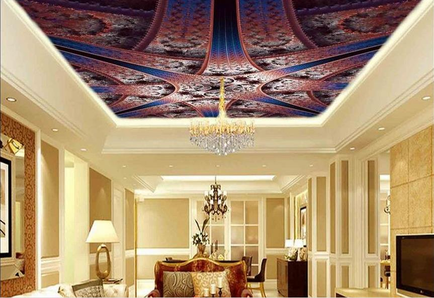 custom 3d ceiling wallpaper Pattern 3d ceiling murals wallpapers for living room 3d stereoscopic photo ceiling wall mural custom 3d stereo ceiling mural wallpaper beautiful starry sky landscape fresco hotel living room ceiling wallpaper home decor 3d