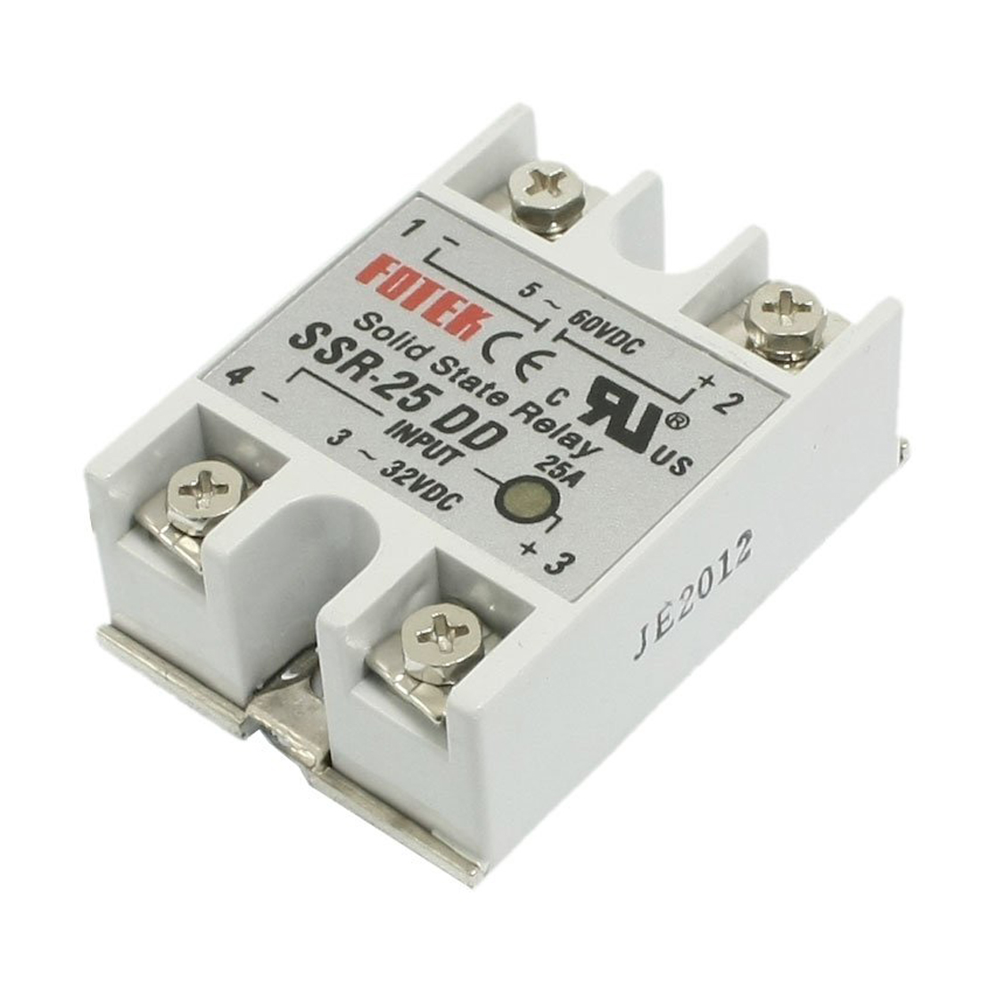 SSR-25DD Single Phase Solid State Module Relay 25A DC 5-60V ssr 40da single phase solid state relay white silver