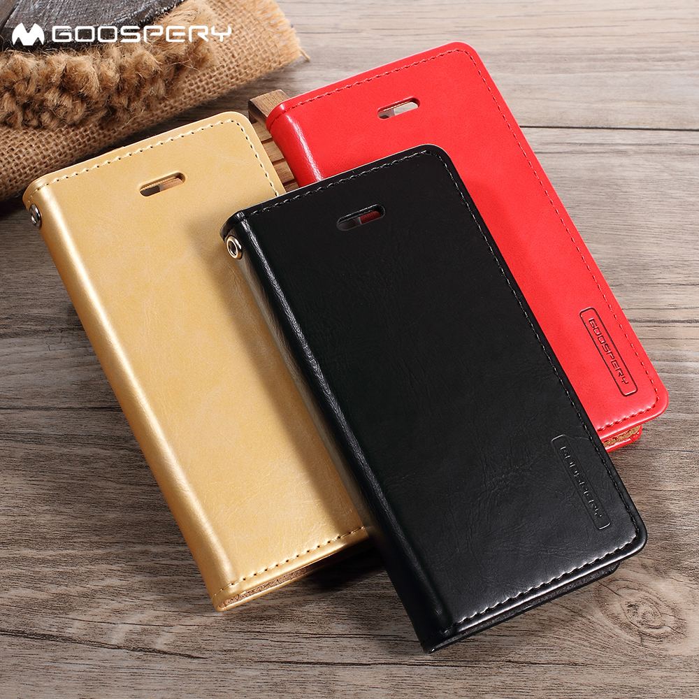 Original Mercury Goospery Rich Diary Wallet Case Cover Tri Fold For Iphone X Blue Moon Flip Mint Samsung Galaxy J3 J5 J7 2017 Eu J2 Prime 2016 Leather