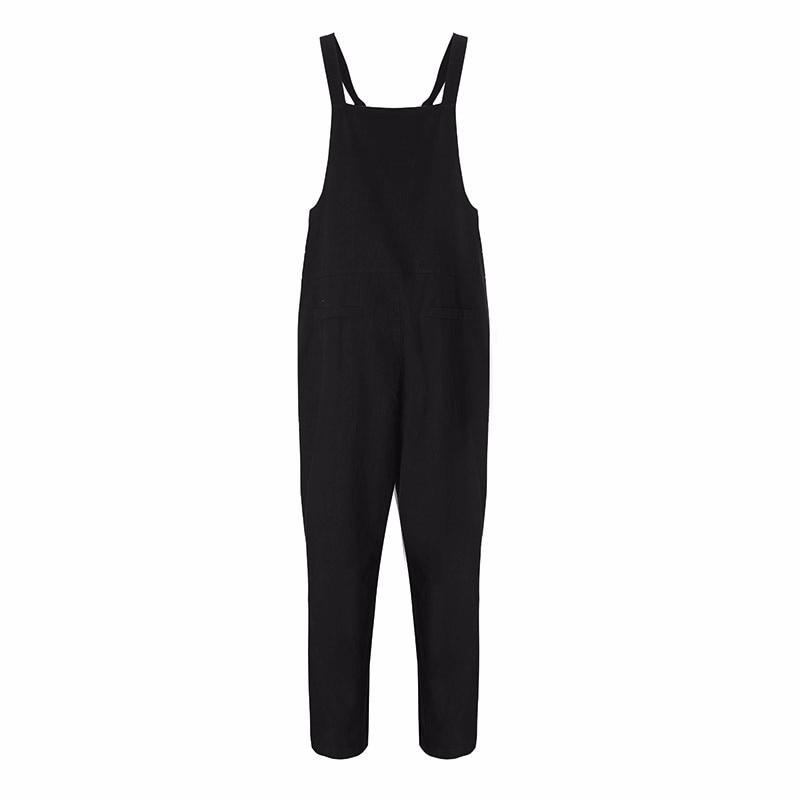 Zanzea kobiety moda jesień kombinezony 2017 casual pajacyki kobiet kombinezon kieszenie luźne stałe paysuits plus size 10