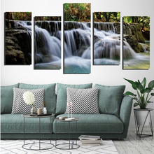 5 Pieces Waterfall Painting Modern Home Decor Canvas Art Mountain Scenery Pictures Wall Artwork HD Printed Poster FA655