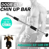 Door Chin Up Bar Portable Home Gym Doorway Pull Up Bar with Comfortable Grips Adjustable Length Exercise Workout Fitness Tool