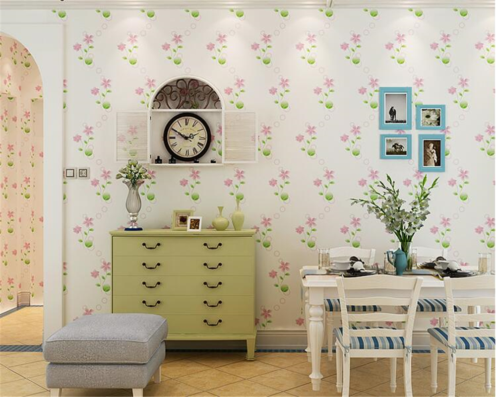 beibehang Garden floral wedding room papel de parede 3d wallpaper cloth clear American living room TV wall paper warm bedroom beibehang wall paper papel de parede 3d korean garden flower pink romantic wedding room bedroom wallpaper shop for living