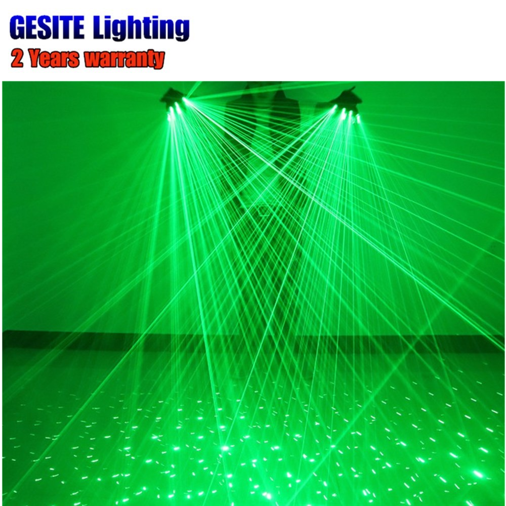 2pcs/lot kaigelin Novelty Green LED Bulb With Battery Dance Show Finger Gloves Laser