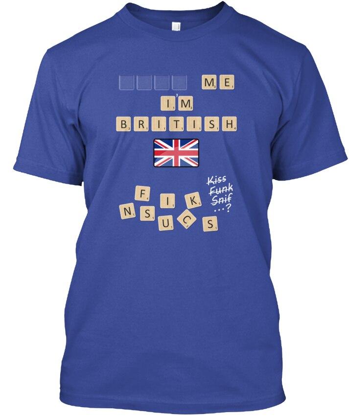 Scrabble Me Im British White Version Popular Tagless Tee T-Shirt