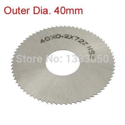 HSS 72 Teeth 40mm X 13mm X 0.2/0.3/0.4/0.5/0.6/0.7/0.8/0.9/1/1.2/1.5/2/2.5/3mm Thickness Slitting Saw Blade Cutter Silver Tone