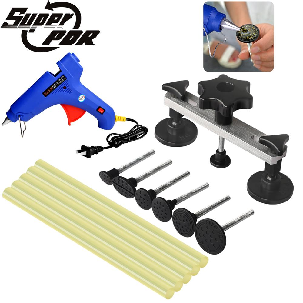 цены Super PDR Tools Paintless Dent Repair Tool Auto Car Body Dent Puller Pulling Bridge Hot Melt Glue Sticks For Hot Melt Glue Gun