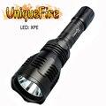 Uniquefire HS-802-XPE Rechargeable lampe de poche LED fichier unique vert/blanc/rouge lumière torche pour la randonnée  urgence Ect.