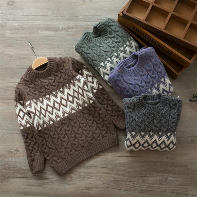 Criança Inverno Meninos Camisola puxar fillette crianças camisola grossa quente pulôver de tricô crianças encabeça meninos suéter de lã cardigan