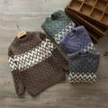 Niño Invierno Suéter pull fillette niños suéter grueso suéter caliente niños tops niños chaqueta de punto de lana de tejer
