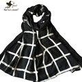 Простой дизайн сетки шарфы для женщин чистого хлопка негабаритных длинные Shawls китай этническом стиле шахматная доска плед шарф дамы платки