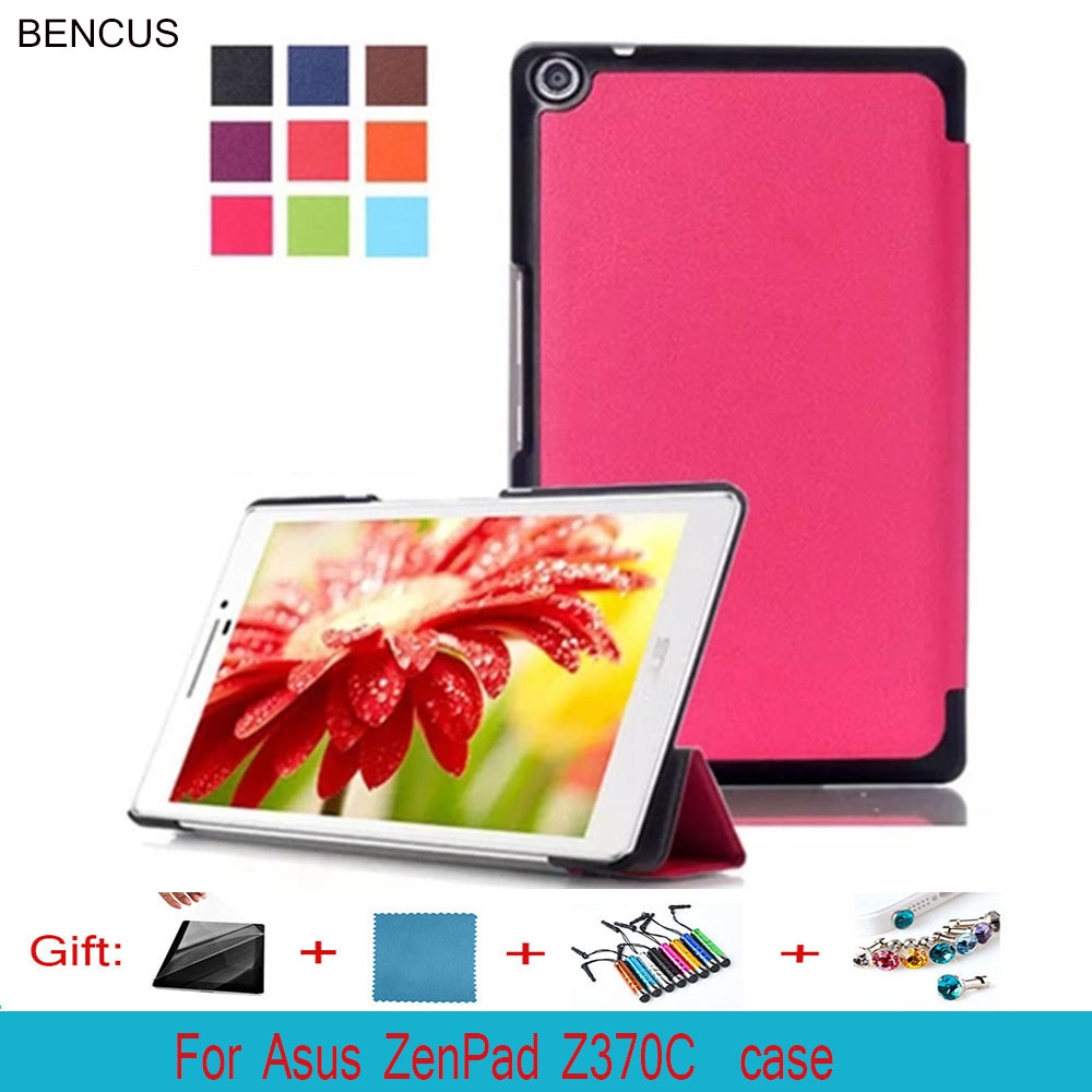 BENCUS For Asus zenpad 7.0 Z370C case ultra thin cover for Asus 7.0 Z370CG Z370 PU leather case magnetic Stand shell