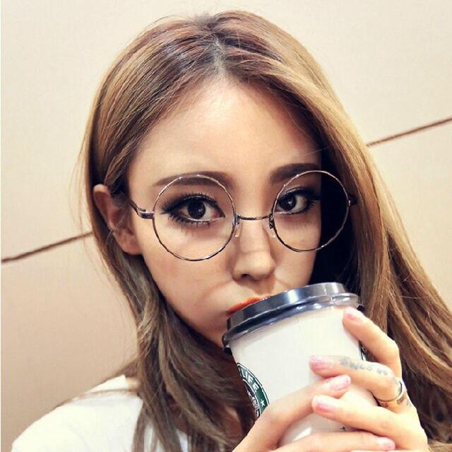 b72d9bfbe Unisex Retro Round Clear Lens Glasses Nerd Spectacles Women Men Eyeglass  Metal Frame Nerd Geek Eyewear #229691
