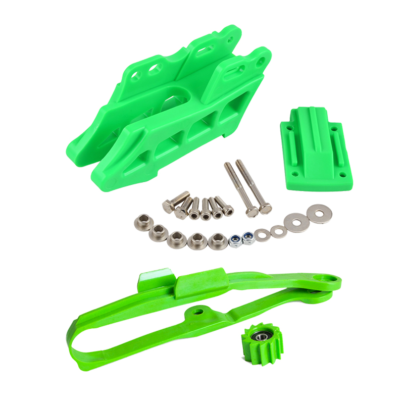 NiceCNC Chain Sliding Pad Lower Roller Chain Guide Cover Guard Protector Kit For Kawasaki KX250F 2009