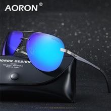 AORON Mens Rimless Sunglasses Polarized Glasses Driver Men Aluminum Magnesium UV400 Sunglass Female Shades Oculos De Sol