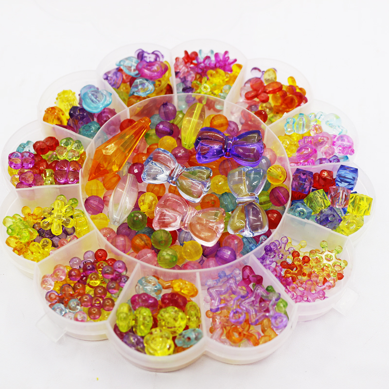 Learned 380pcs-420pcs Colorful Sun Flower Boxed Plastic Acrylic Bead Diy Bracelet Handmade Toys Jewelry Making Educational For Kids Toys Bringing More Convenience To The People In Their Daily Life Beads Toys