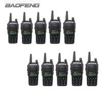 10 PCS BAOFENG UV 82 Портативных УКВ трансивер переговорные с ЖК дисплей FM радиоприемник CB радио Dual PTT Старт Ключ фонарик