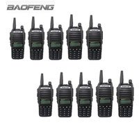 10 PCS BAOFENG UV 82 VHF UHF Handheld Transceiver Interphone with LCD FM Radio Receiver CB Radio Dual PTT Launch Key Flashlight