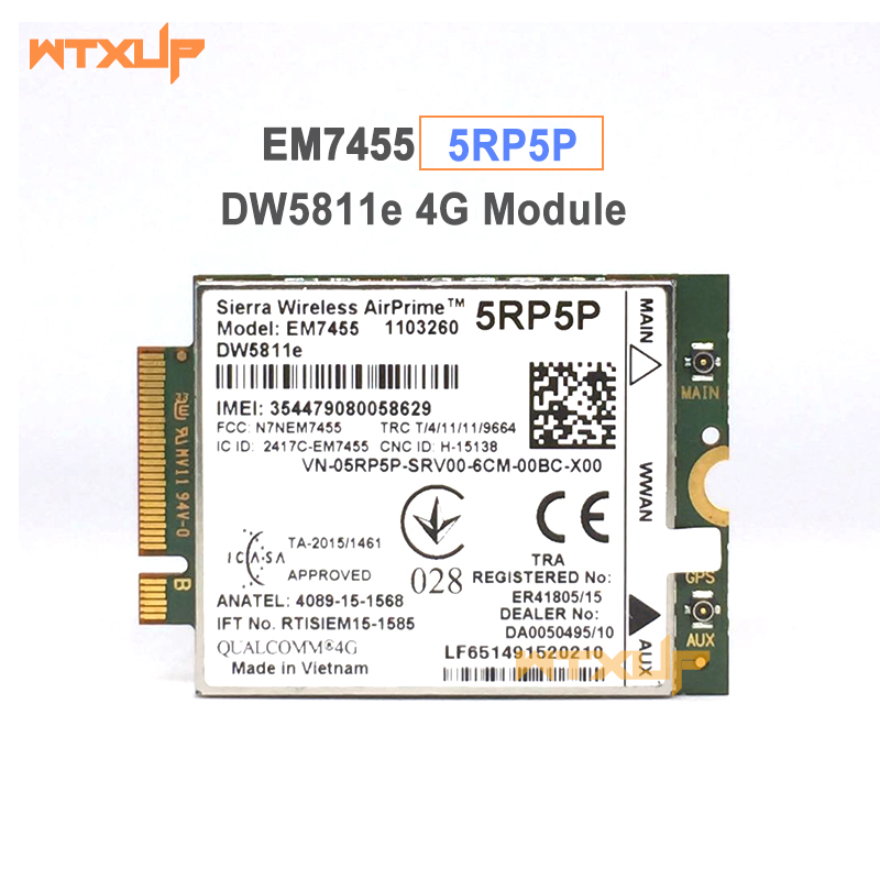Computer & Office Tireless Sierra Em7455 Dw5811e 5rp5p Fdd/tdd Lte Cat6 4g Module 4g Card M.2 300m For Dell E7270 E7470 E7370 E5570 E5470 3g Modems