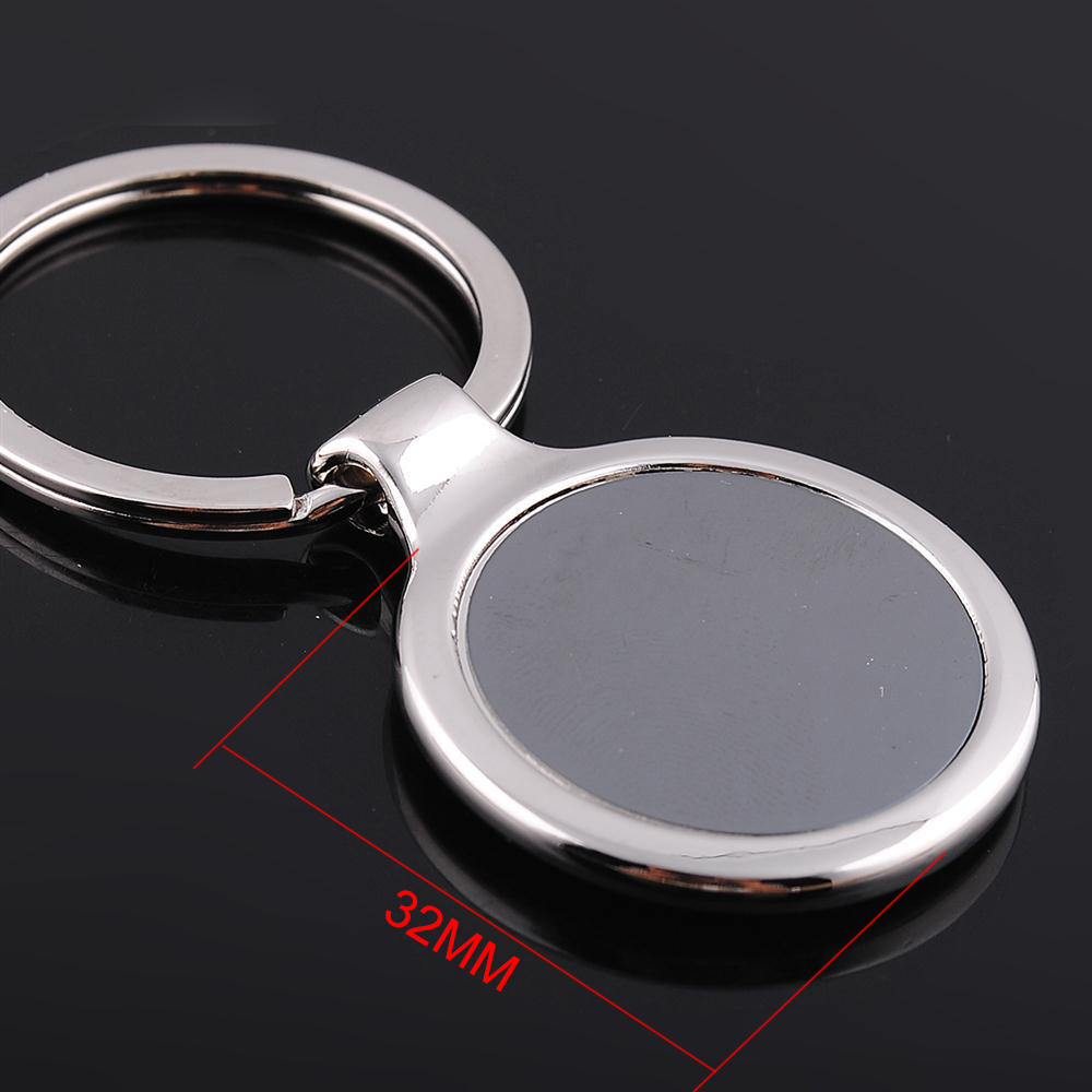 Wholesale Fashion Round Key chain business promotion keychains ...
