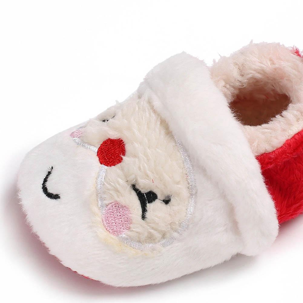Милые Рождество унисекс теплые Тапочки для малышей новорожденных Обувь для малышей Prewalker Санта Клаус пинетки зима Обувь для младенцев