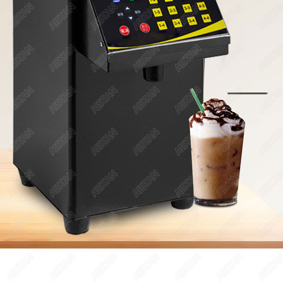 RC16 8L stainless steel commercial fructose quantitation machine for milk tea shop and coffee shop 9