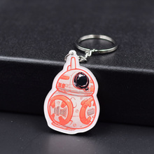 BB8 Keychain 3 Styles Fashion Jewelry Key Chains Stormtrooper darth vader Star Wars Custom made Movie Key Ring FQ1