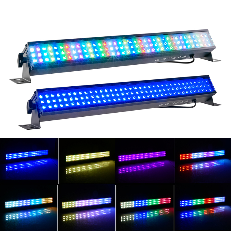 LED Wall Washer Linear Light Bar 108Led RGB DMX Wall Washer Lighting For Park Disco Bar Club Party Wedding Square Building Hote
