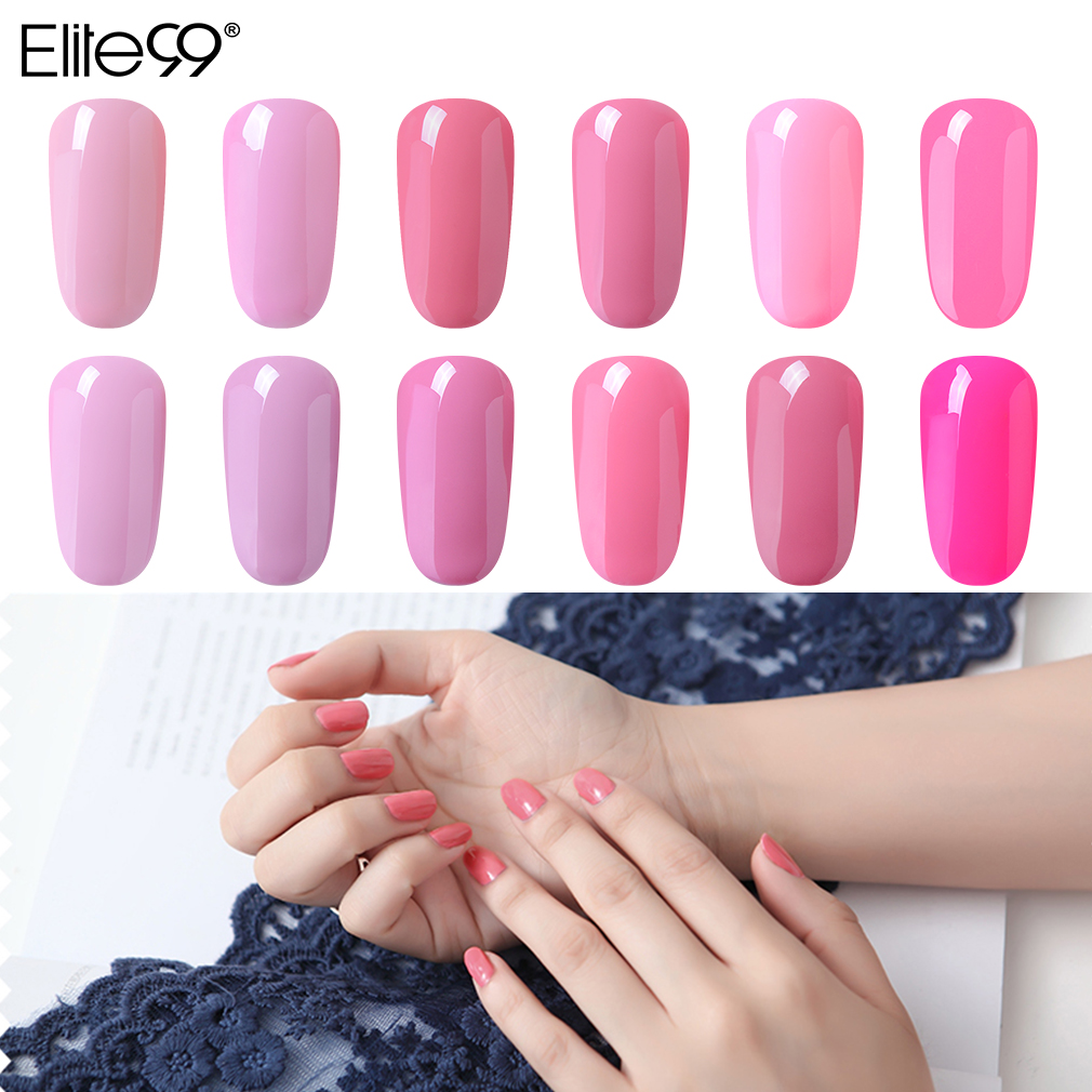 Elite99 250ML couleur rose Gel vernis à ongles pur Macaron vernis à ongles tremper UV lampe à LED vernis à ongles Design Gel vernis