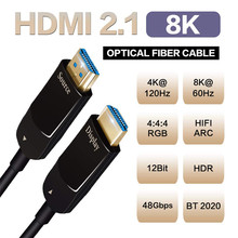2020 mejor 8K 48 2,1 Gbps HDMI Cables ópticos 4K HDMI 2,1 Cable UHD Cabo HDMI 2,1 5m 10m 15m HDMI 2,1 Cable de fibra para 8K(China)