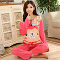 Spring  autumn long-sleeve cartoon  Pajama Sets for lady  women's pyjamas sleepwear female homewear  Lounge  nightgowns  pijamas
