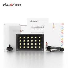 Viltrox RB08 bi color 2500K 8500K Mini Video LED Luz de relleno portátil batería integrada para cámara teléfono estudio de fotografía