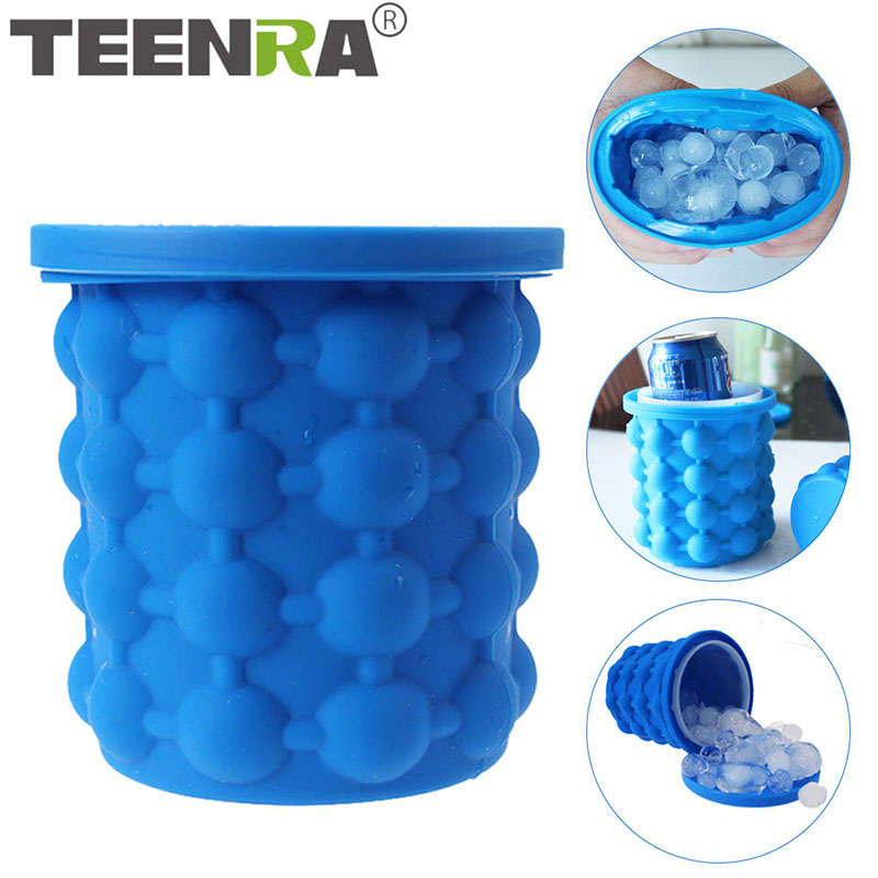 TEENRA 1Pcs Ice Cube Maker Genie Silicone Ice Genie Mold Cube New Ice Genie The Revolutionary Space save Kitchen Tools