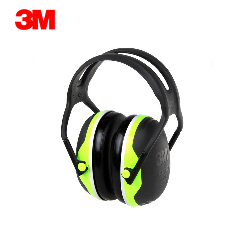 3M PELTORX4A Overhead Soundproof Earmuffs Noise Reduction Earmuffs 33dB NRR Adjustable Headband Comfortable for Working Sleeping