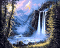 Framed beautiful waterfall DIY Picture On Wall Acrylic DIY Painting By Numbers Home Decor Drawing Paint Hand Unique Gift 40*50cm