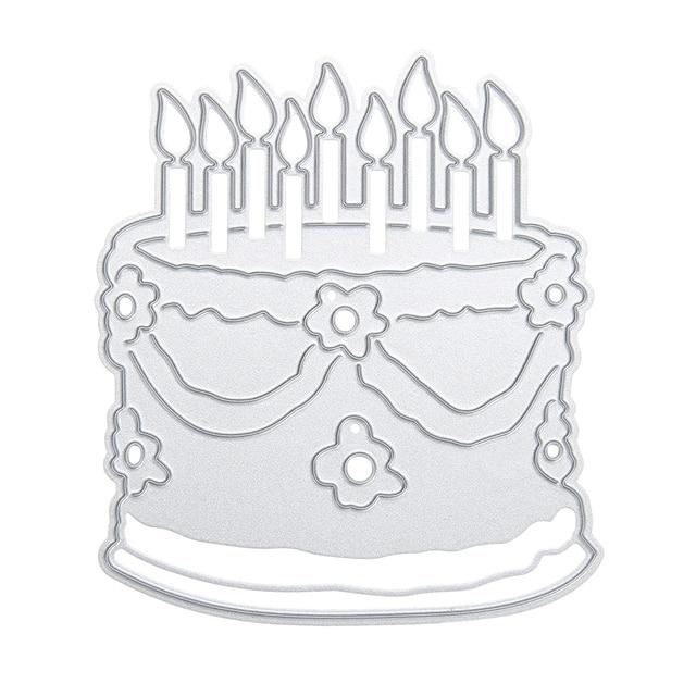 Birthday Cake Pattern Metal Cutting Dies Stencils For DIY Scrapbooking Decorative Craft Photo Album Embossing